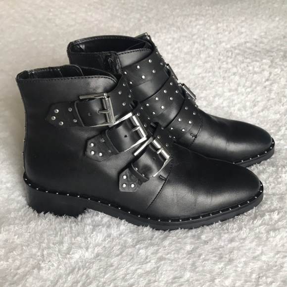 New In Box Asos Asher Leather Studded